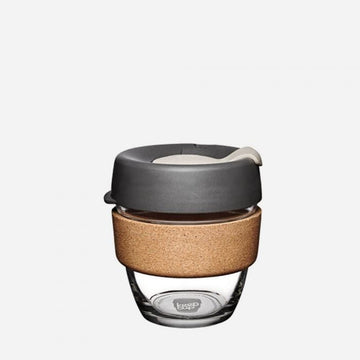 KeepCup Brew Cork Glass Reusable Coffee Cup 8oz - Press