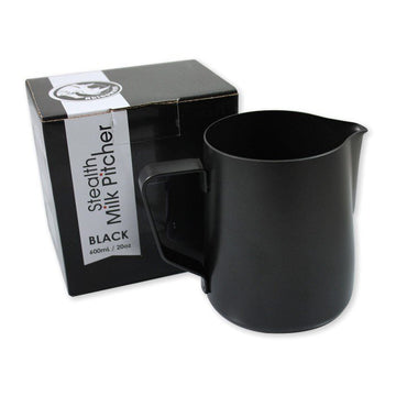 Rhinowares Black Stealth Milk Pitcher 12oz/340ml