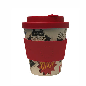 Ecoffee Cup Reusable Bamboo Travel Cup 0.25l / 8 oz. - Superheroes Boo Cup