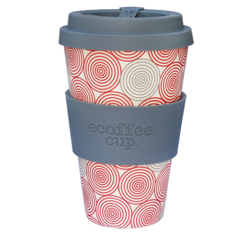 Redber Coffee Ecoffee Cup Reusable Bamboo Travel Cup 0.4l / 14 oz. - Swirl