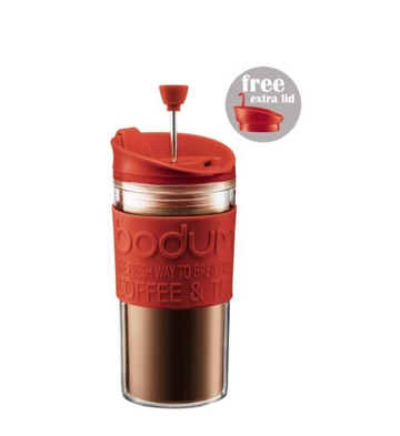 Bodum Travel Mug Cafetiere Press Set K11102-294 - Red