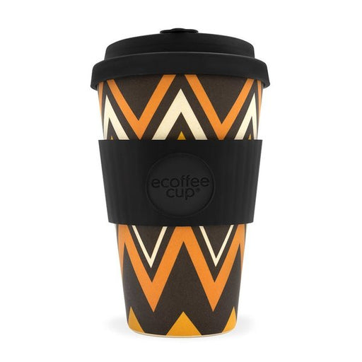 Ecoffee Cup Reusable Bamboo Travel Cup 0.4l / 14 oz. - Zig Zag