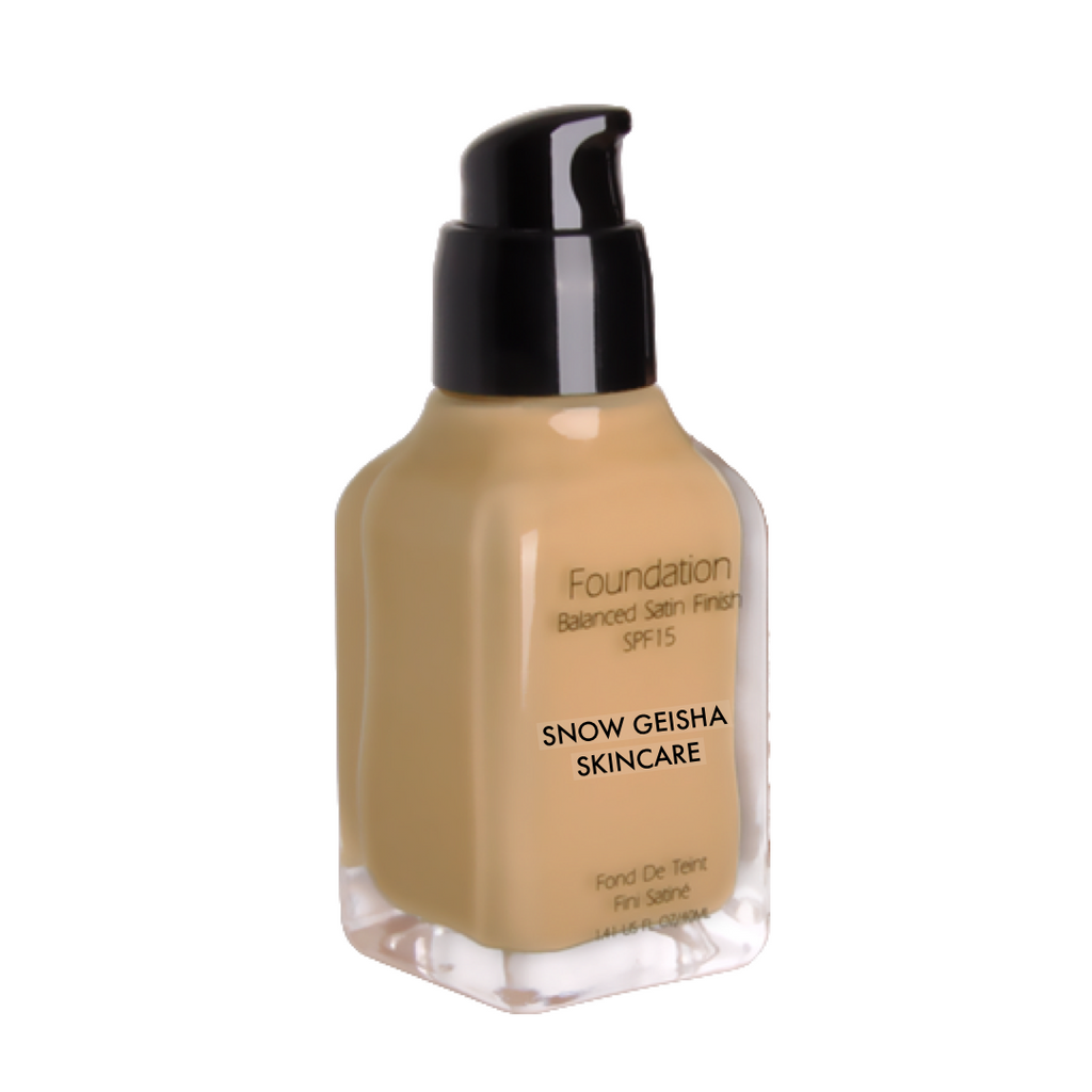 Balanced Satin Finish Foundation SPF 15 '115' - SNOW GEISHA SKINCARE
