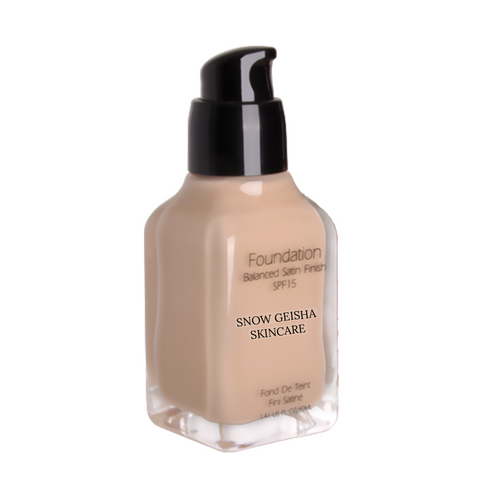 Balanced Satin Finish Foundation SPF 15 '105' - SNOW GEISHA SKINCARE