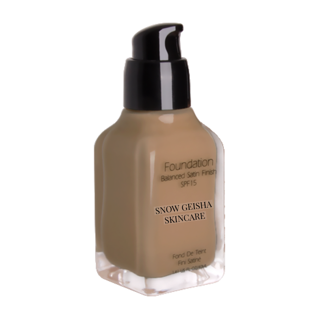 Balanced Satin Finish Foundation SPF 15 '120' - SNOW GEISHA SKINCARE