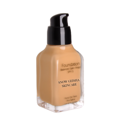 Balanced Satin Finish Foundation SPF 15 '112' - SNOW GEISHA SKINCARE