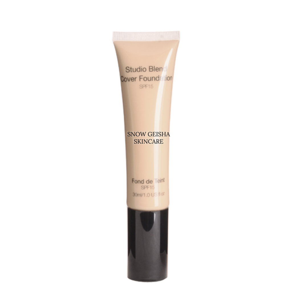 Studio Blend Cover Foundation SPF 15 '112' - SNOW GEISHA SKINCARE