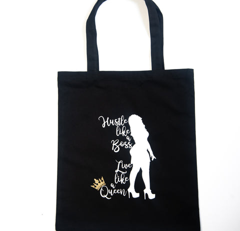 Fancy Black Girl Boss Tote Bag