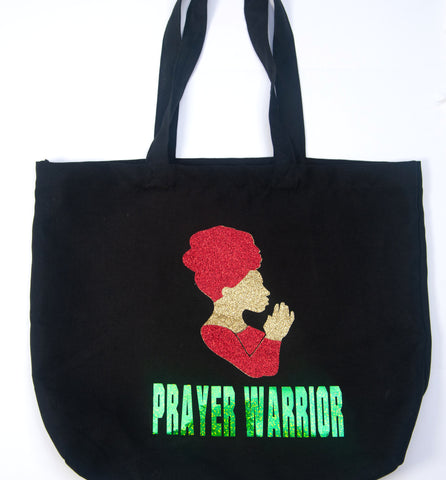 Glitter Prayer Warrior Tote Bag