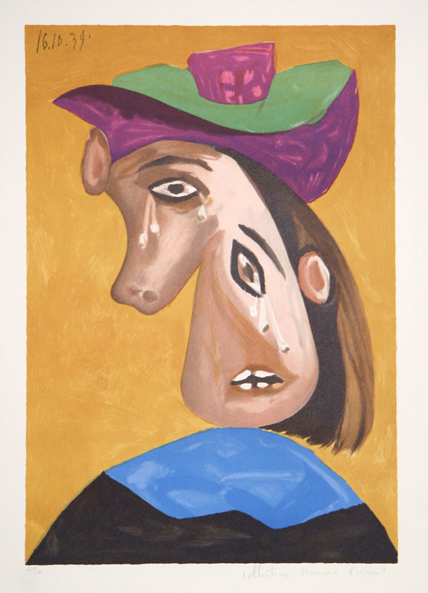 Pablo Picasso, Le Pleureuse, 13-B, Lithograph on Arches Paper