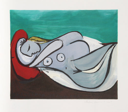 Pablo Picasso, Formeuse a L'Oreiller, 14-A, Lithograph on Arches Paper
