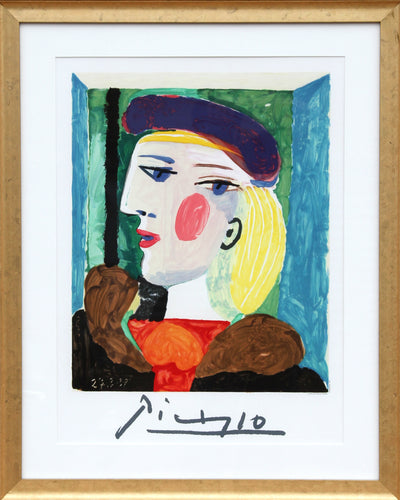 Pablo Picasso, Femme Profile (Marie-Therese Walter), 15-A-k, Lithograph