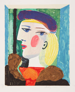 Pablo Picasso, Femme Profile (Marie-Therese Walter), 15-A, Lithograph on Arches Paper