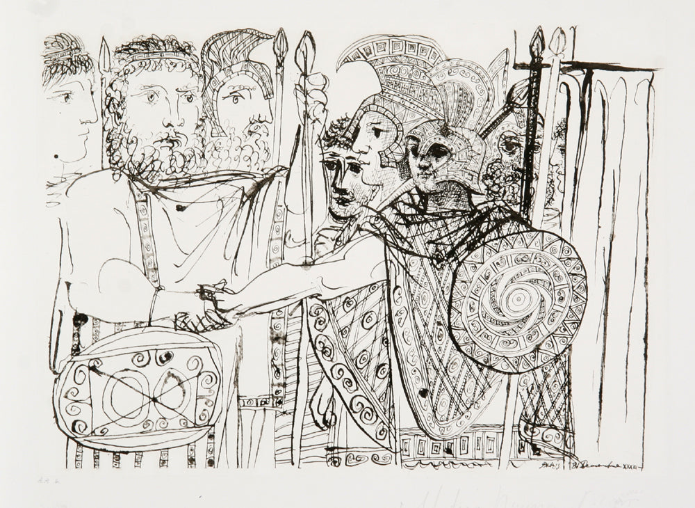 Pablo Picasso, Composition, 17-B, Lithograph on Arches Paper