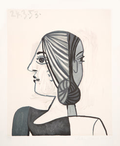 Pablo Picasso, Tete, 23-4, Lithograph on Arches Paper