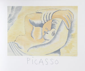 Pablo Picasso, Femme Couchee, 23-8-k, Lithograph