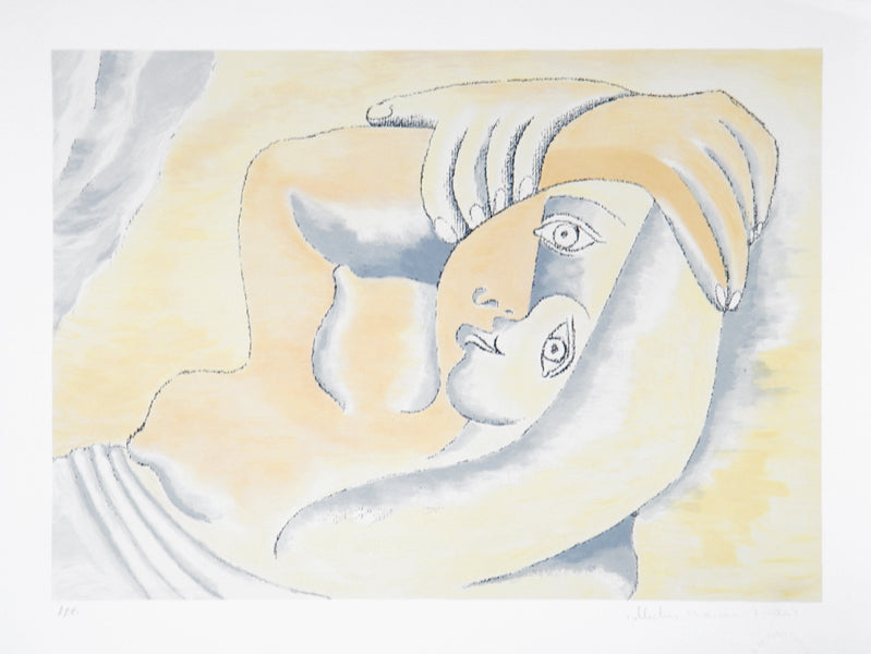 Pablo Picasso, Femme Couchee, 23-8, Lithograph on Arches Paper