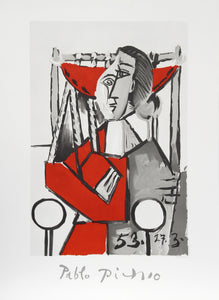 Pablo Picasso, Femme Assise, 24-2-k, Lithograph