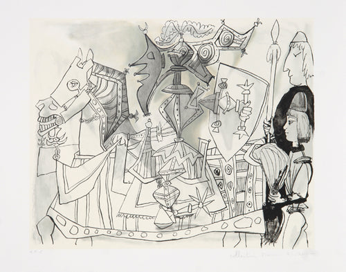 Pablo Picasso, Jeux de Pages, 24-3, Lithograph on Arches Paper