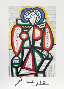 Pablo Picasso, Femme Assise, 25-10-k, Lithograph