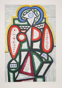Pablo Picasso, Femme Assise, 25-10, Lithograph on Arches Paper