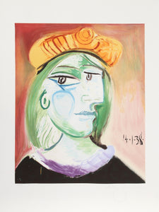 Pablo Picasso, Marie Therese Walter, 25-4, Lithograph on Arches Paper