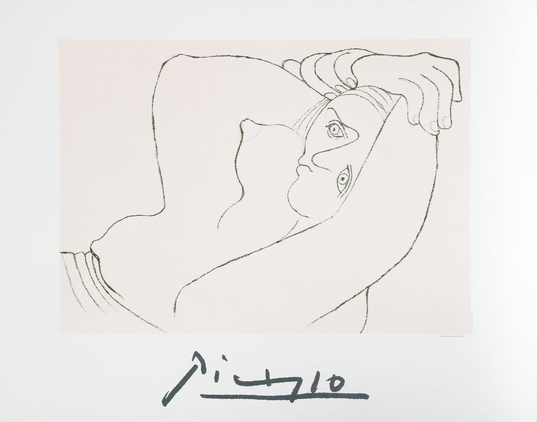 Pablo Picasso, Femme Couchee, 26-1-k, Lithograph
