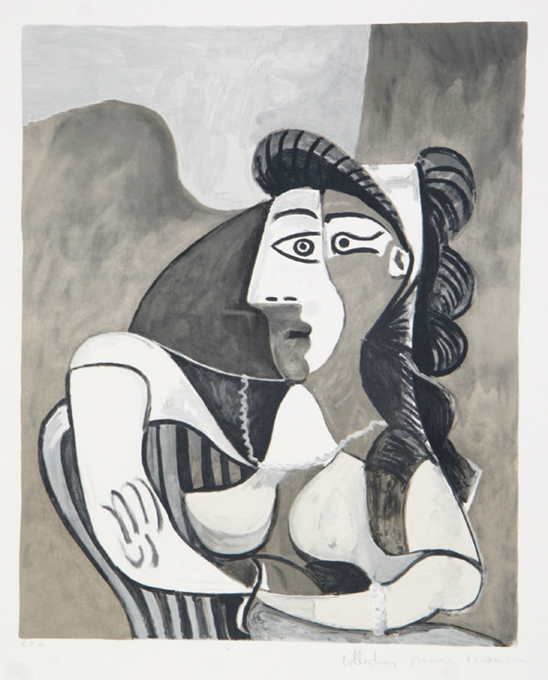 Pablo Picasso, Femme Accoudee au Fauteuil, 26-4, Lithograph on Arches Paper