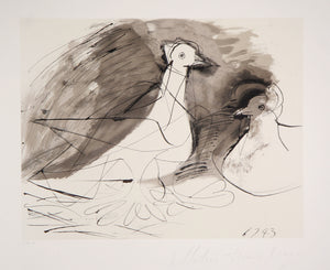 Pablo Picasso, Pigeons, 27-3, Lithograph on Arches Paper