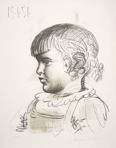 Pablo Picasso, Portrait d'Enfant, 33-2, Lithograph on Arches Paper
