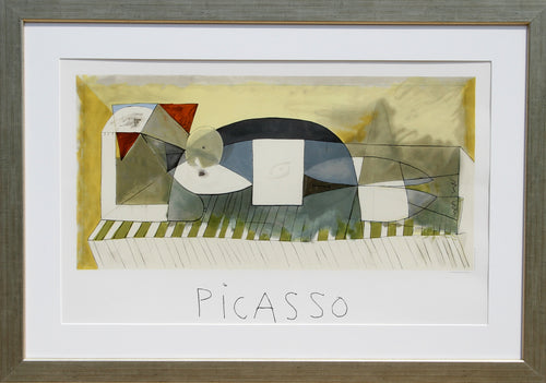Pablo Picasso, Femme Allongee, 5-B-k, Lithograph