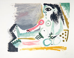 Pablo Picasso, Femme Nu Assise, J-122, Lithograph on Arches Paper