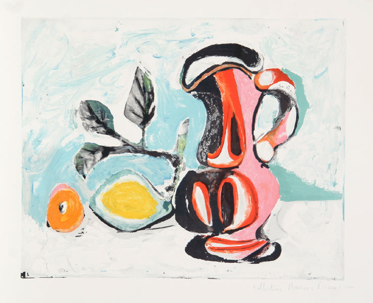 Pablo Picasso, Nature Morte au Pichet Rose, J-177, Lithograph on Arches Paper