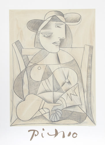 Pablo Picasso, Femme aux Mains Jointes (Marie-Therese), J-3-k, Lithograph