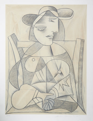 Pablo Picasso, Femme aux Mains Jointes (Marie-Therese), J-3, Lithograph on Arches Paper