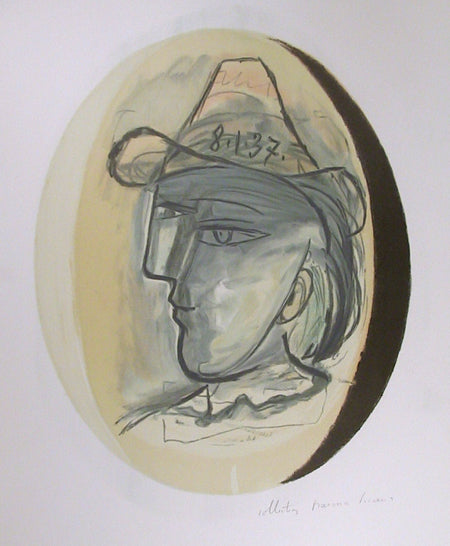 Pablo Picasso, Tete, 24-7, Lithograph on Arches Paper