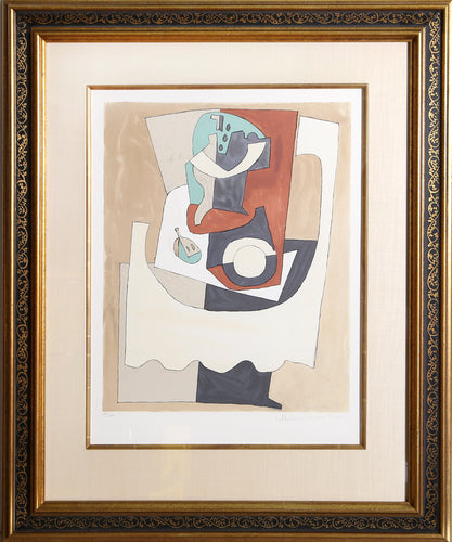 Pablo Picasso, Nature Morte Au Gueridon et a L'Assiette, 11-B, Lithograph on Arches Paper