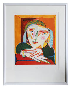 Pablo Picasso, Femme Accoudee a sa Fenetre, 1-D, Lithograph on Arches Paper