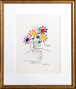 Pablo Picasso, Le Bouquet, Offset Lithograph, signed in the plate