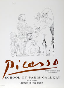 Pablo Picasso, Etchings From the 347 Series -  School of Paris Gallery, Poster