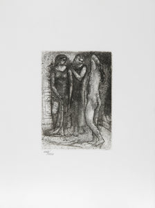 Pablo Picasso, Groupe de Trois Femmes, Restrike Etching, numbered in pencil w/ blindstamp