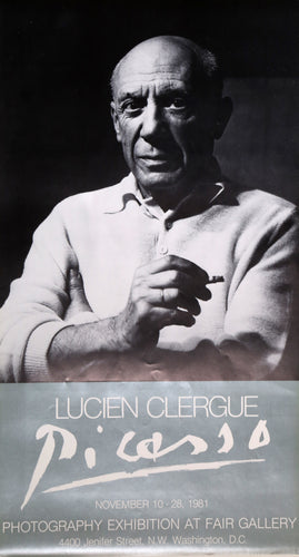 Lucien Clergue, Picasso Exhibition at Fair Gallery, Poster