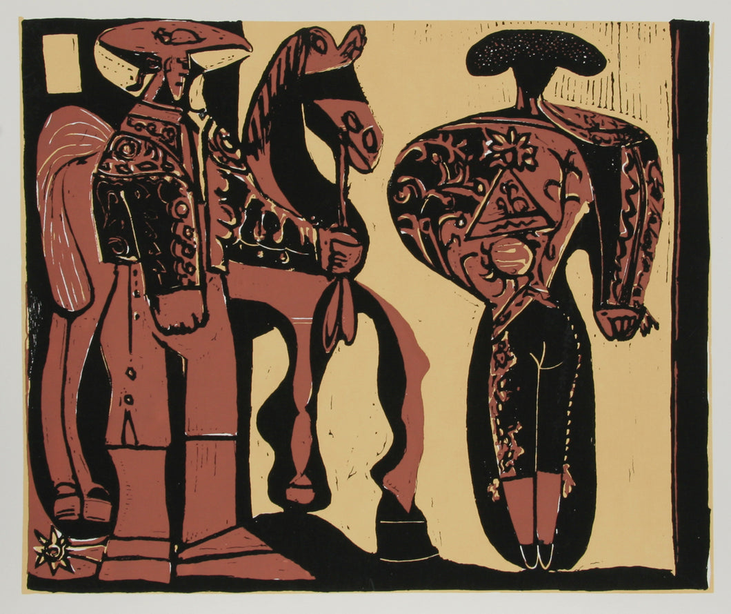 Pablo Picasso, Bullfighter, Serigraph Poster