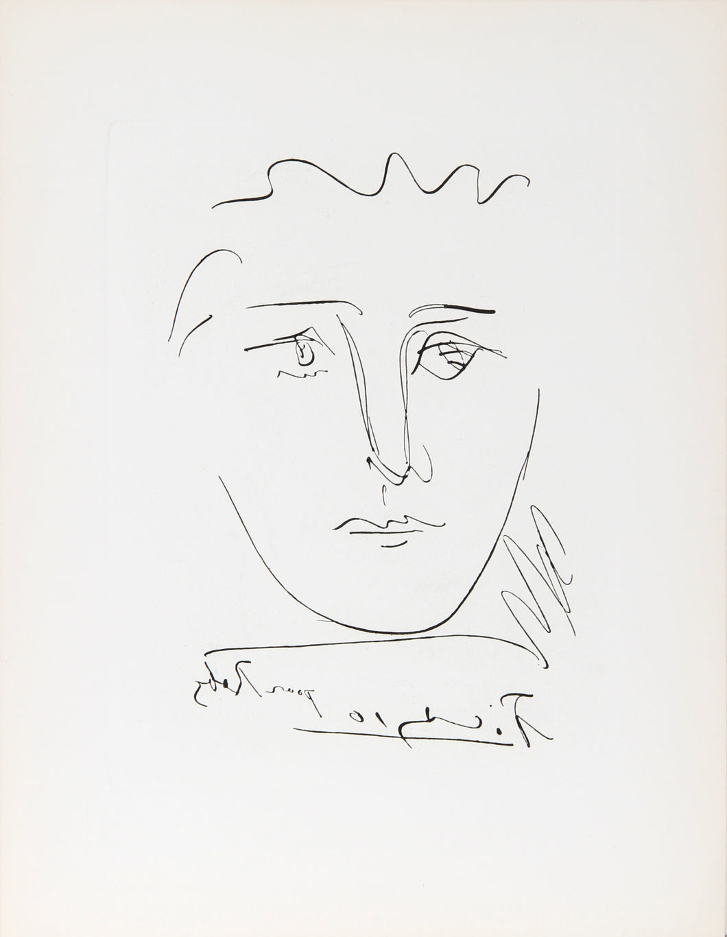 Pablo Picasso, L'Age de Soleil (Pour Roby), Etching, signed in the plate