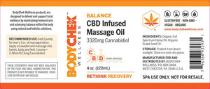 BALANCE CBD Infused Massage Oil