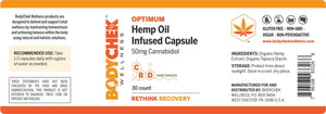 OPTIMUM Hemp Oil Infused Capsules 50mg