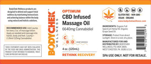 OPTIMUM CBD Infused Massage Oil