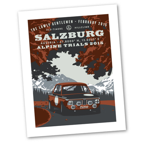 Alpine Trials Art Print