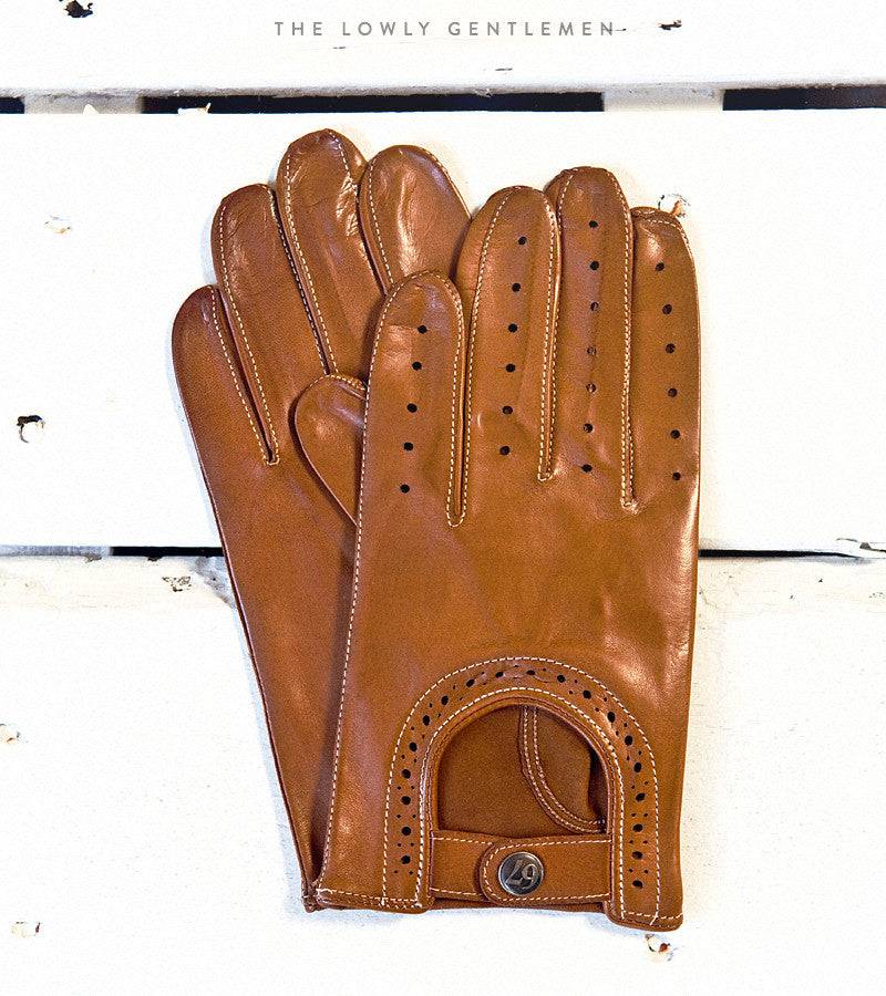 Lowly Gentlemen Leather Driving Gloves
