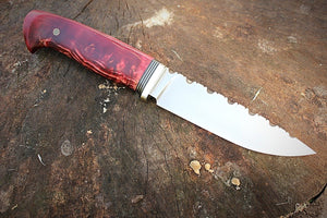 Beautiful New Custom Handmade D2 Steel Hunting Knife